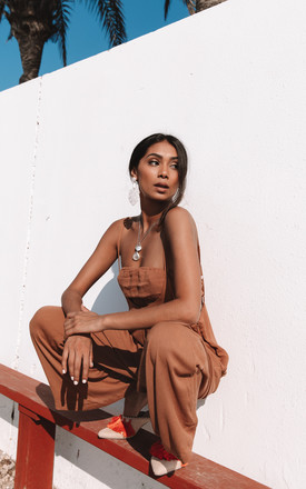 Brown Desert 2 Piece Jumpsuit by Charlie Holiday Product photo
