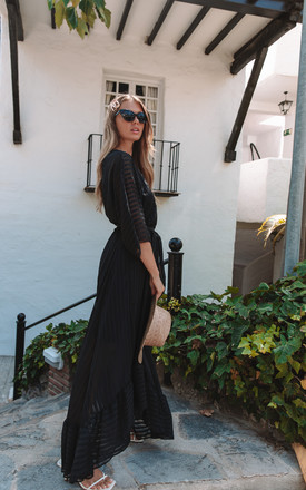 Black Plunge Maxi Dress by Bella and Blue Product photo