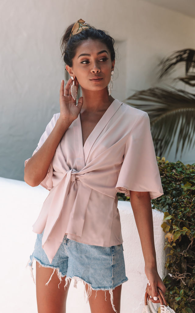 Stone Kimono Knot Top by Bella and Blue