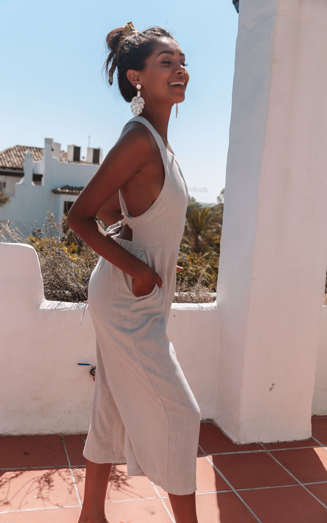 St George Jumpsuit in Grey by Charlie Holiday