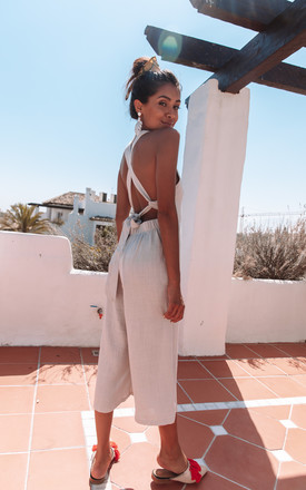 St George Jumpsuit In Grey by Charlie Holiday Product photo