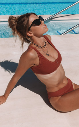Desert Red Badlands Rib Bikini Top by Charlie Holiday Product photo