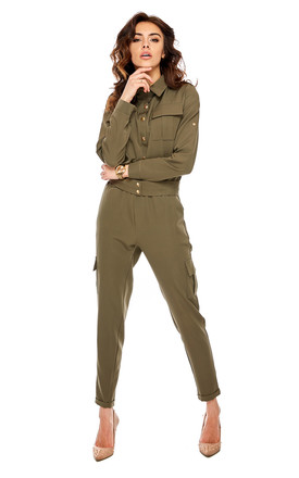Green Military Jumpsuit by By Ooh La La Product photo