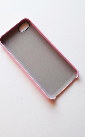 Personalised pink and white pu leather phone case by Rianna Phillips