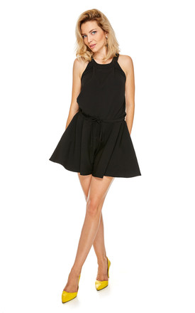 Sleeveless Flared Playsuit In Black by By Ooh La La Product photo