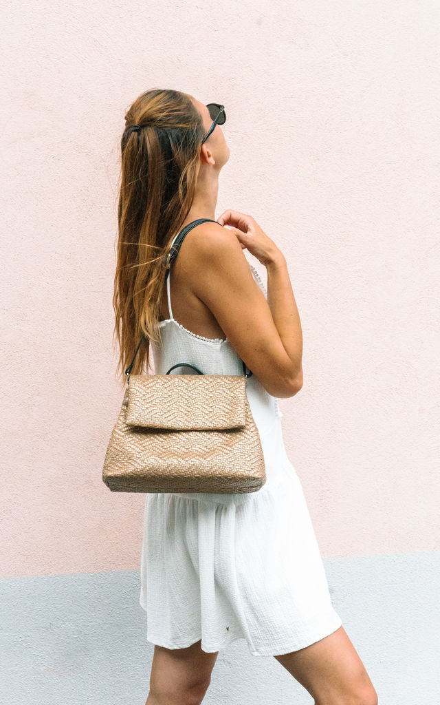Knitted Mini Backpack in Summer Gold by BOO