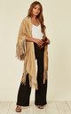 MOCK SUEDE TASSEL WRAP IN CAMEL by Malissa J Collection