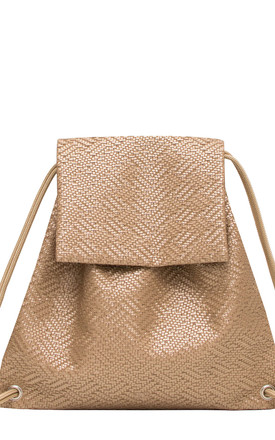 Knitted Knot Booflap Backpack in Summer Gold by BOO