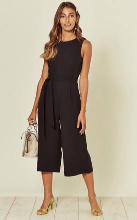 Culotte Round Neck Jumpsuit In Black by Marc Angelo Product photo