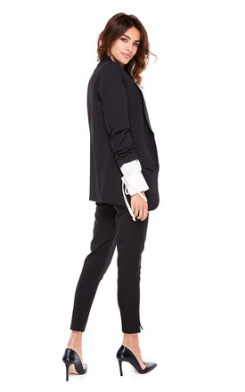High Waisted Trousers in Black by By Ooh La La