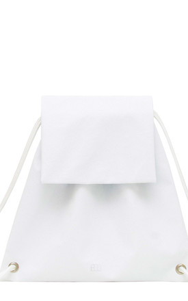 Glitter Booflap Backpack in White by BOO