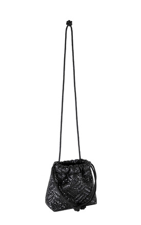 Micro Boo Knit Drawstring Bag in Black by BOO