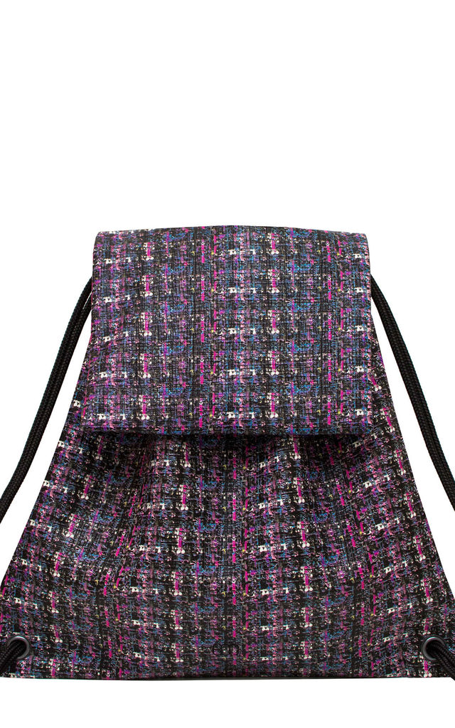 Booflap Drawstring Bag in Tweed by BOO