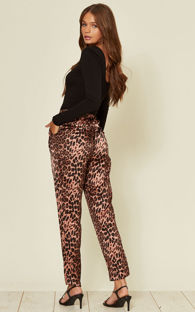 Jungle Leopard Print Tapered Trousers by Traffic People