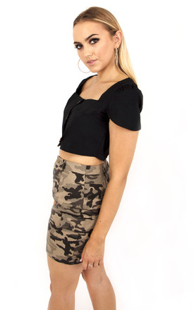 Camouflage Mini skirt In Khaki by MISSTRUTH