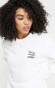 White Sweatshirt Feminist Sassy Slogan Loungewear by Rani & Co.