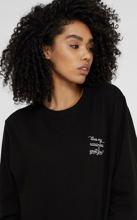 Black Maya Angelou Sassy Slogan Jumper Sweatshirt by Rani & Co. Product photo