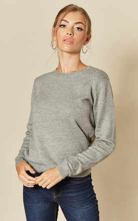 Long Sleeve Pullover Knit In Mid Grey by JDY Product photo