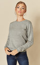 Long Sleeve Pullover Knit in Mid Grey by JDY