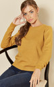Long Sleeve Pullover Knit in Yellow by JDY