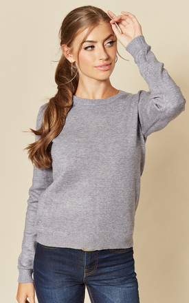 Long Sleeve Pullover Knit In Steel Grey by JDY Product photo