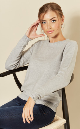 Long Sleeve Pullover Knit In Light Grey by JDY Product photo