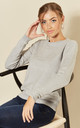 Long Sleeve Pullover Knit in Light Grey by JDY