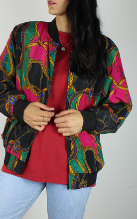 Vintage Chain Print Bomber Jacket by Re:dream Vintage Product photo