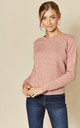 Long Sleeve Pullover Knit in Pink by JDY