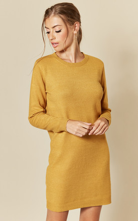 Long Sleeve Knitted Dress In Yellow by JDY Product photo