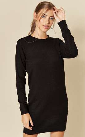 Long Sleeve Knitted Dress In Black by JDY Product photo