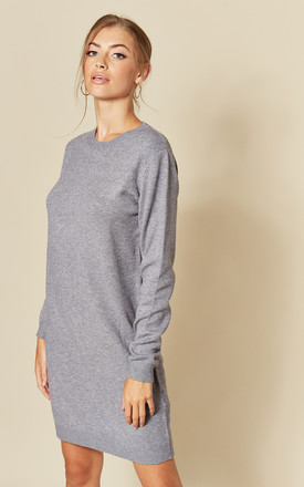 Long Sleeve Knitted Dress in Steel Grey by JDY