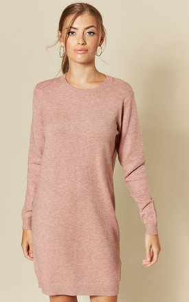 Long Sleeve Knitted Dress In Pink by JDY Product photo
