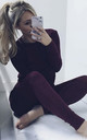 Lea Wine Red Loungewear Co-Ord | Jumper & Joggers by IKRUSH