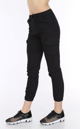 Black Combat Utility Trousers by Portobello Punk