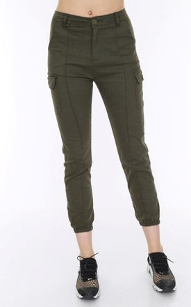 Combat Trousers in khaki by Portobello Punk