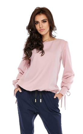 Long Sleeve Top With Cuff Ties In Pink by By Ooh La La Product photo