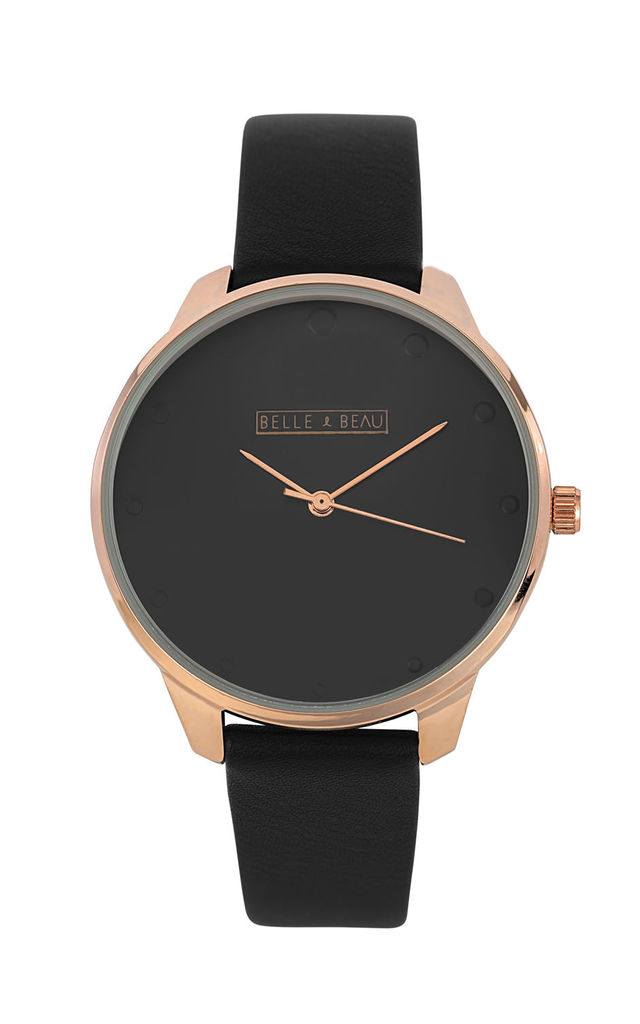 COSMETICA SHADOW WATCH in BLACK by Belle & Beau
