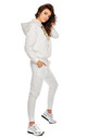 Cozy and Comfy Joggers with Drawstring in White by By Ooh La La