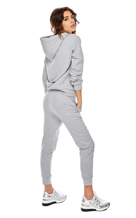 Cozy and Comfy Joggers with Drawstring in Grey by By Ooh La La