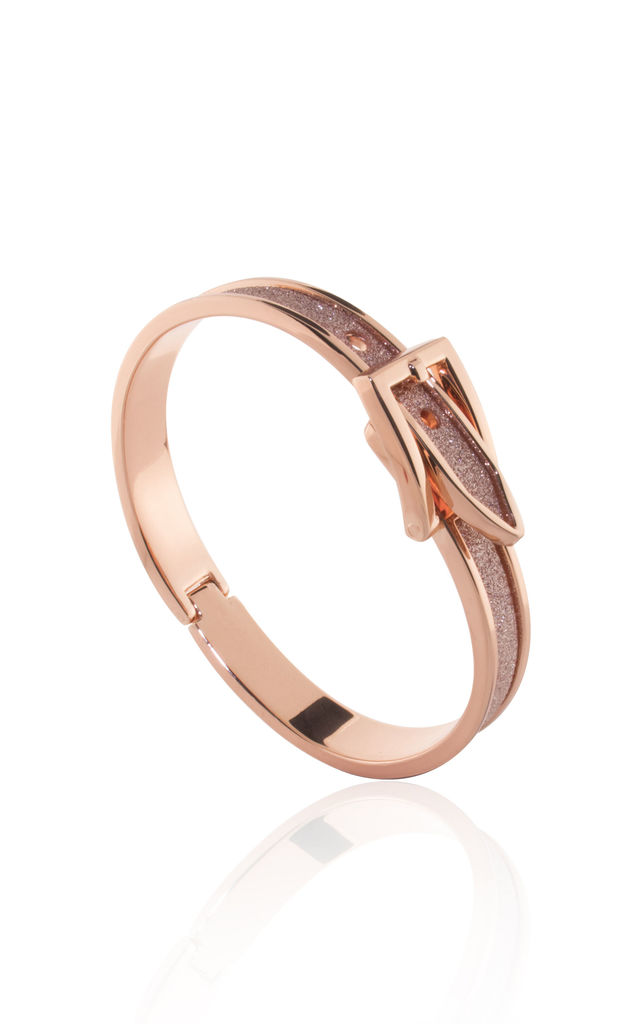 MOONDUST SHIMMER BUCKLE BANGLE in ROSE GOLD by Belle & Beau