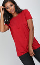 Short Sleeve Jersey T-shirt in Red by Oops Fashion