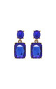 Simple gem drop earrings in royal blue by LAST TRUE ANGEL