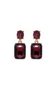 Simple gem drop earrings in burgundy by LAST TRUE ANGEL
