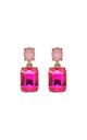 Simple gem drop earrings in pink by LAST TRUE ANGEL