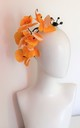 Large yellow orchid occasion hairpiece by Kate Coleman