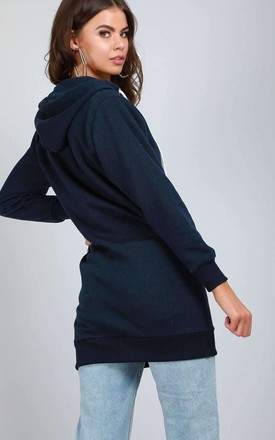 Hooded Sweatshirt in navy by Oops Fashion