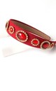 Red Jewelled Hair Band by Olivia Divine Jewellery
