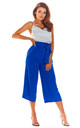 High Waisted Cropped Trousers in Blue by AWAMA