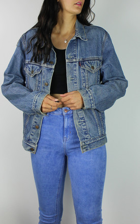 Vintage Levi's Mid Wash Denim Jacket With Red Tab Logo by Re:dream Vintage Product photo